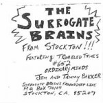 [PROMO SLEEVE] SPLIT SURROGATE BRAINS & I AM THE HAMSTER [1988] FFR001/ACS-7-1/L 30169