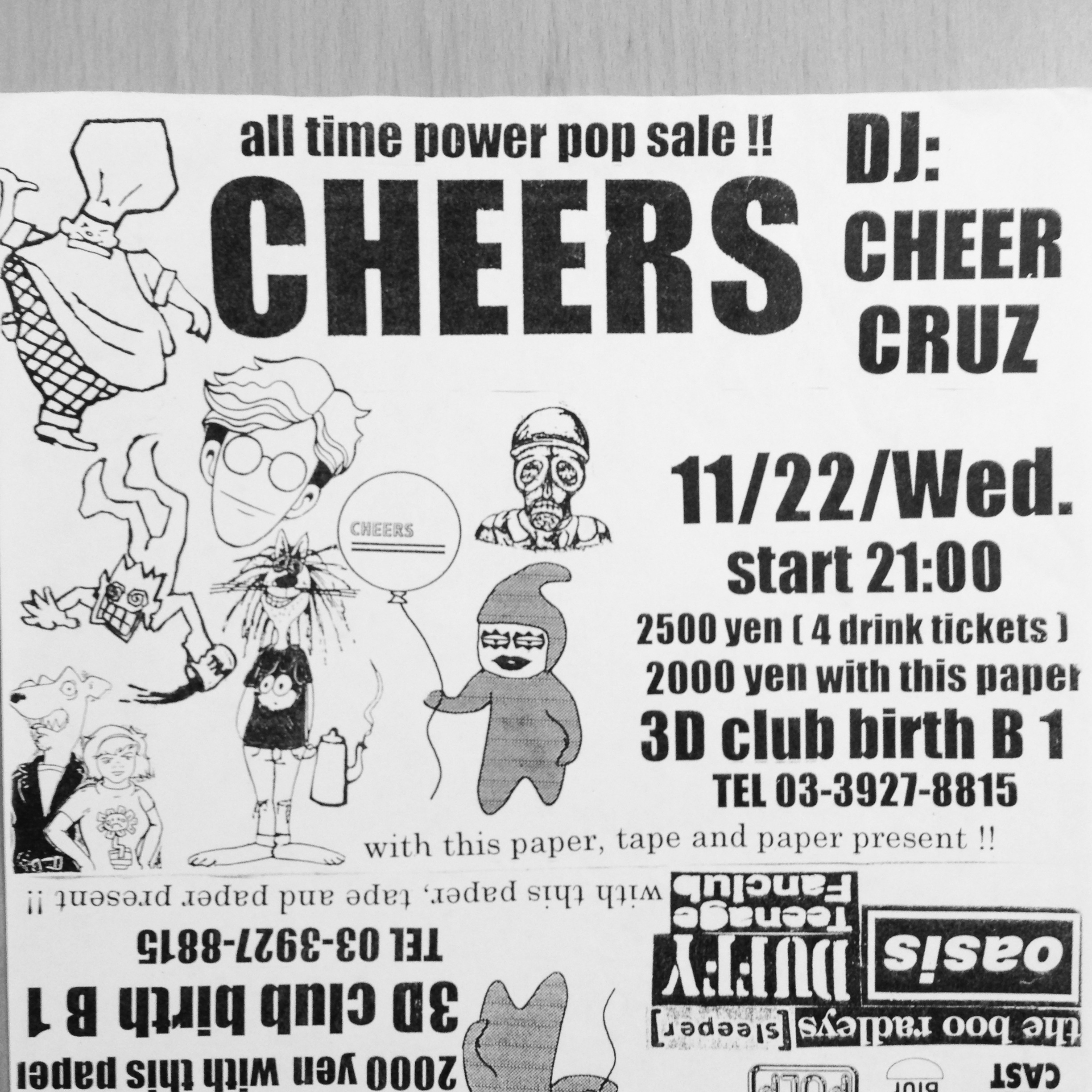 CHEERS PUNK FLYER [1995]